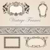 Retro design template. Vintage  frames with border Royalty Free Stock Photography