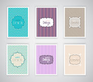 Retro design templates Royalty Free Stock Image