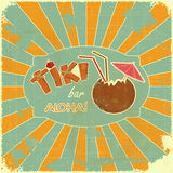 Retro Design Tiki Bar Menu Stock Photos