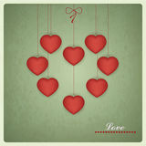 Retro Design of Valentines Card. Vector love desig Stock Photo