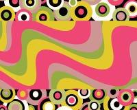 retro designdiagram Arkivbilder