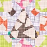 Retro- Designhintergrund mit geometrischen Formen Stockbild