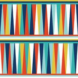 Retro- Designkunst der nahtlosen geometrischen Mustervektorhintergrundzusammenfassungsweinlese mit bunten Dreiecken und horizonta Stockbilder