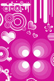 Retro designs and hearts Stock Photography