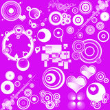 Retro designs and hearts Stock Image