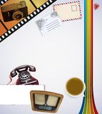 Retro Desk Stock Photography