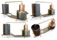 Retro destilation boiler Stock Images