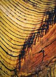 Retro detail van houten tekeningen Stock Foto's