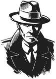 Retro Detective Royalty Free Stock Photos