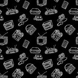Retro devices pattern Stock Photography