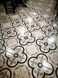 Retro di stile piastrelle per pavimento cinesi asiatiche verso sud-est Fotografia Stock Libera da Diritti