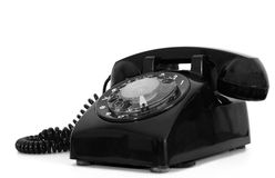 Retro dial style black house telephone Royalty Free Stock Photos