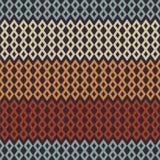 Retro Diamond Chevron Seamless Pattern stock illustration