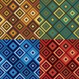 Retro Diamond Quilt Pattern stock illustration
