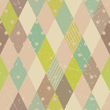 Retro diamonds seamless pattern Royalty Free Stock Photography