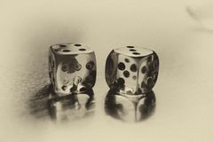 Retro dice Royalty Free Stock Image