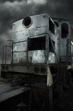 Retro diesel locomotive Stock Photo
