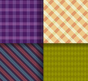 Retro different vector  patterns with swatch Stock Photos