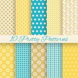 Retro different vector seamless patterns Stock Images
