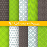 Retro different vector seamless patterns Royalty Free Stock Image