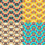 Retro different vector seamless patterns tiling Royalty Free Stock Photo