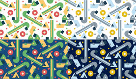 Retro different vector seamless patterns tiling Royalty Free Stock Photography