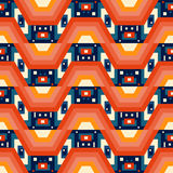 Retro different vector seamless patterns tiling Royalty Free Stock Image