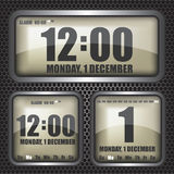 Retro digital clock illustration Stock Images