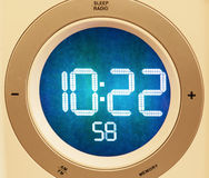 Retro digital clock, timing theme Royalty Free Stock Photography