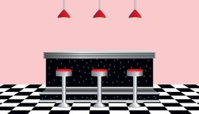 Retro Diner 1950s Style Stock Images