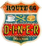 Retro diner sign Stock Photo