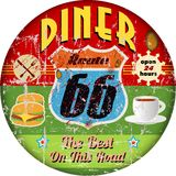 Retro diner sign Royalty Free Stock Photography