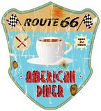 Retro diner sign Stock Images