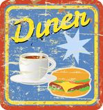 Retro diner sign royalty free illustration