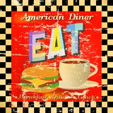 Retro diner sign Stock Photography