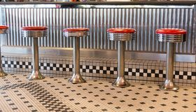 Retro Diner Stools stock photo