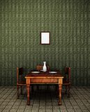 Retro dining room Royalty Free Stock Images