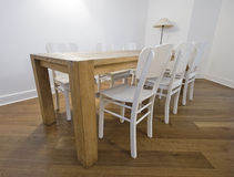 Retro dining table royalty free stock photography