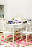 Retro dining table Stock Photo