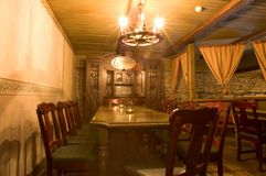 retro diningroom Arkivbild