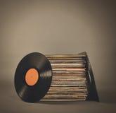 Retro dischi d'annata di musica Immagine Stock