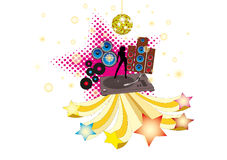 Retro Disco. Flier or poster for your party or fest vector illustration