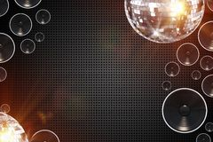 Retro Disco Background Stock Images