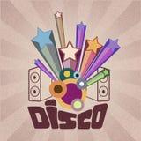 Retro disco background Royalty Free Stock Image