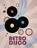 Retro disco background Royalty Free Stock Photo