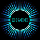 Retro disco background with soundwave frame Royalty Free Stock Image