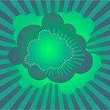 Retro disco clouds wallpaper Royalty Free Stock Photo