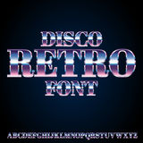 Retro Disco Font Stock Photos