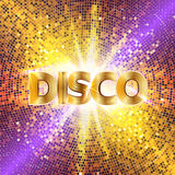 Retro Disco party background with sparkles and glitter, glow light effect. Royalty Free Stock Photography