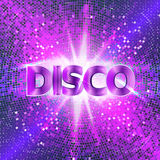Retro Disco party background with sparkles and glitter, glow light effect. Stock Photos